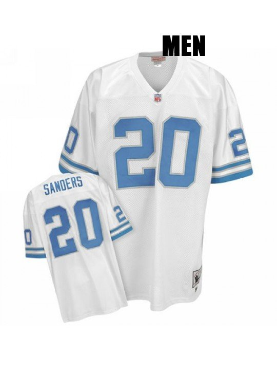 47ef7dc6 Detroit Lions #20 Barry Sanders White Throwback Jersey