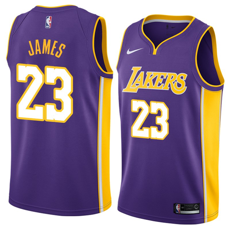 MEN S YOUTH LOS ANGELES LAKERS  23 LEBRON JAMES PURPLE SWINGMAN JERSEY f749f3f93