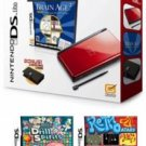 Nintendo DS Lite Crimson Bundle with 12 Games