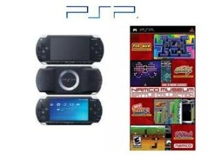 "Sony PSP Black ""Namco Bundle"" - 32MB Card, and 21 Great Games"
