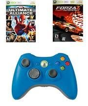 Boys Holiday Bundle - 2 Great Games and a Blue Wireless Controller for Xbox 360