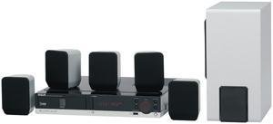 RCA RTD217 5.1-CHANNEL, 250-WATT HOME THEATER SYSTEM WITH 5-DISC DVD/CD PLAYER