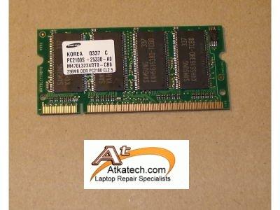 256MB DDR PC2100 CL2.5 Laptop RAM
