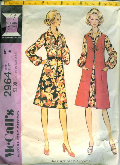 Vintage '70's McCall's Pattern No. 2964