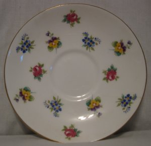Crown Staffordshire Rose Pansy Pattern #F15728  Saucer