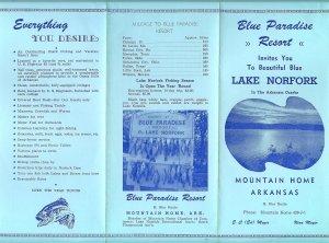 Blue Paradise Resort, Lake Norfork, Mountain Home Arkansas Advertising Pamphlet
