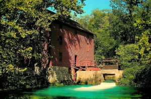 The Old Red Grist Mills at Alley Spring, Eminence, Missouri Postcard