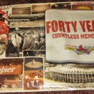 Busch Stadium Poster - 40 Years. Countless Memories