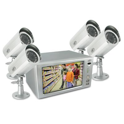 SVAT CLEARVU1 Web Ready DVR System w/ Integrated 7-Inch LCD and 4 Cameras