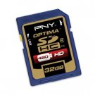 PNY 32GB Secure Digital High Capacity (SDHC) Class 4 Card P-SDHC32G4-FS