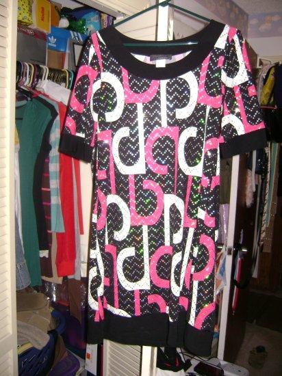Pretty Black and pink dress JUNiORS sz M