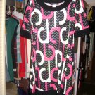 Pretty Black and pink dress JUNiORS sz M