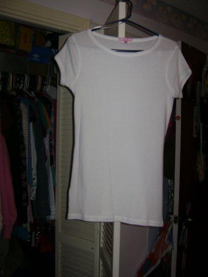 plain white top. size l