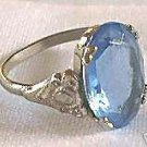 Costume Jewelry Blue Stone Ring