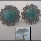 Screw Back Sterling Silver & Stone Earrings