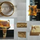 10K Yellow Gold with Large Citrine Size 6.75