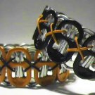 2 PK - Black & Orange Pop-Tab Bracelets  (SCX)