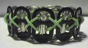Black & GID Lime Pop-Tab Bracelet (CX)