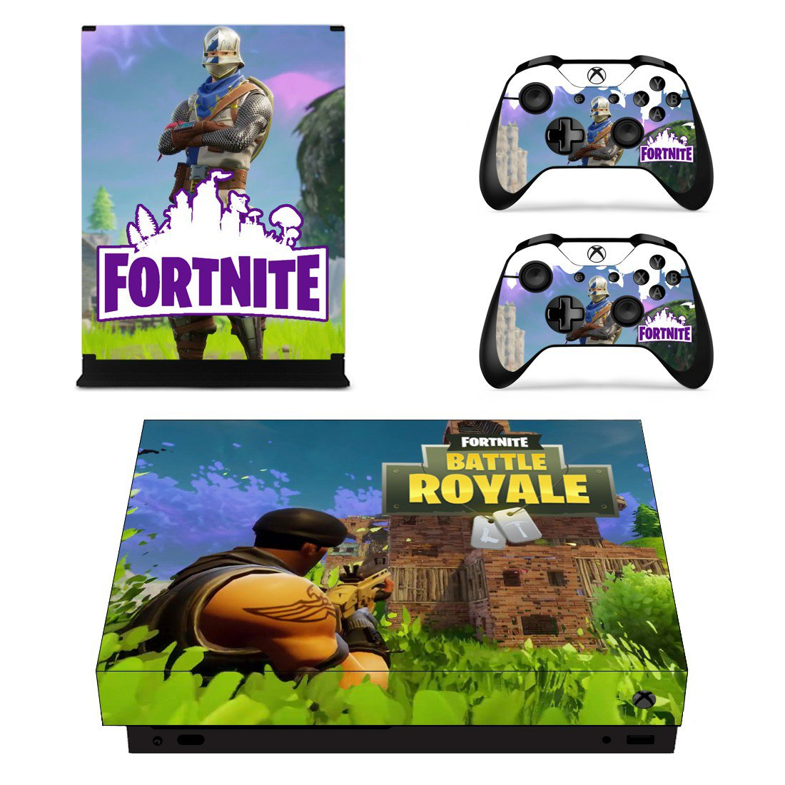 Fortnite Battle Royale Decal Skin Sticker For Xbox One X Console And