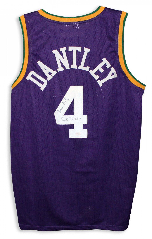 993c56235ea40 Adrian Dantley Autographed Purple Jersey Inscribed