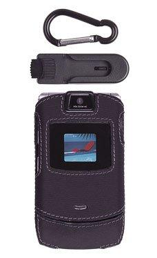 Motorola RAZR V3/V3i Black Fitted Case