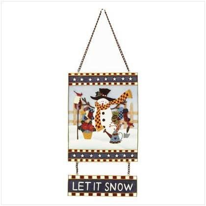 """""""Let it snow"""" snowman sign"""