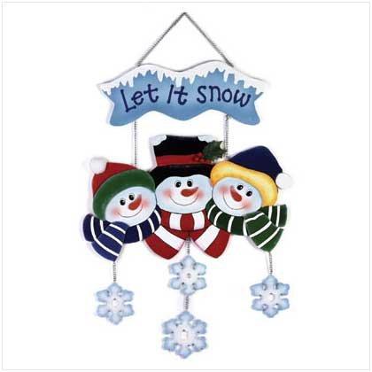 """""""Let it snow"""" snowman family"""
