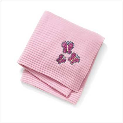 Butterfly accordion fleece throw