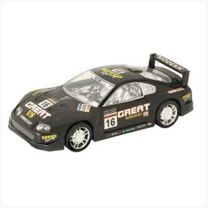 Friction powered race car