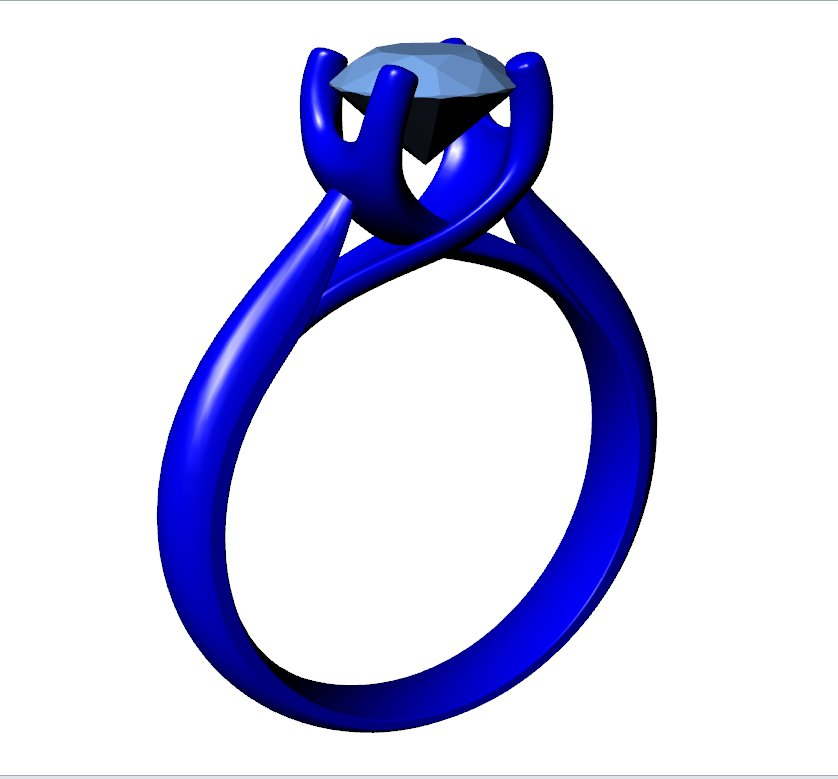 CA4 - Jewelry Engagement Ring 3D Design Downloadable File For 3D Printing