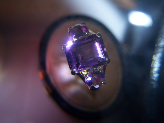 4 ctw. Amethyst & 9K Yellow Gold Ring