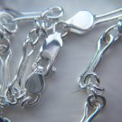 Handmade Sterling Silver Link Chain Bracelet.  Click on photo for Euro Price.