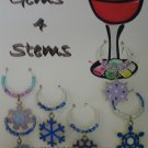Snowflake Wine Charm Charms Markers: Set of 6