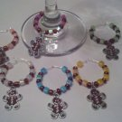 Set of 6 Christmas Gingerbread Wine Glass Charms