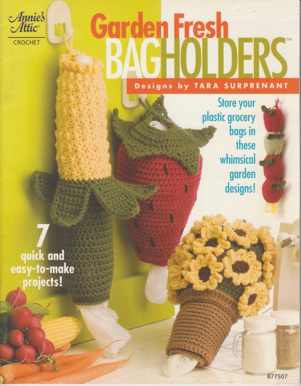 Annies Attic Crochet Garden Fresh Bag Holders Designs By Tara
