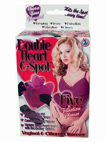 Double heart g spot purple