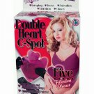 Double heart g spot purple