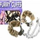 Fur handcuffs white