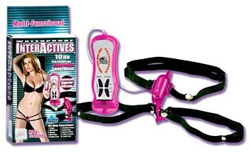 Interactive mini dolphin strap-on vibrator