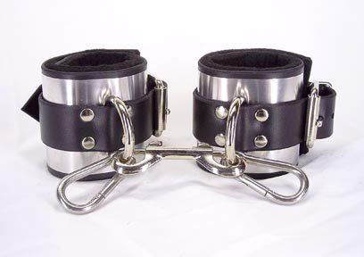 Ankle cuffs metal band