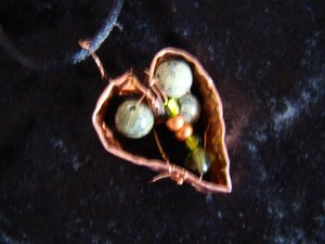 copper & jade Heart