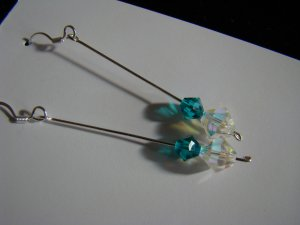 Crystal Blue earrings silver