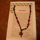 Raku garnet & crystal necklace