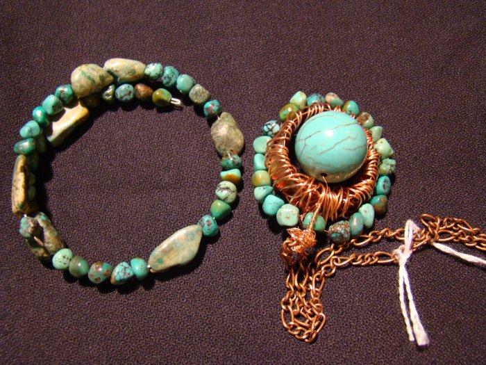 turquoise starburst set