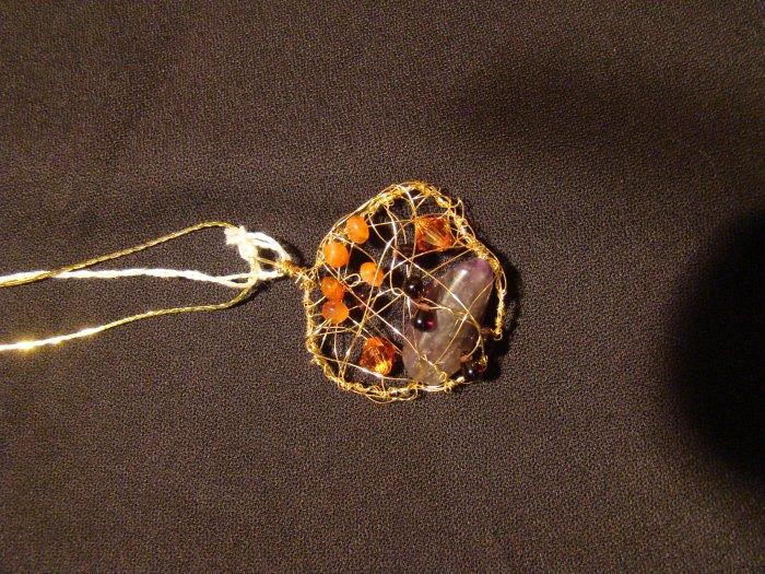 carnelian amethyst garnet gold plated