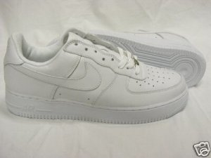 New NIKE AIR FORCE 1 ONE WHITE WHITE LOW