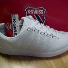 BRAND NEW K-SWISS CLASSIC MENS SHOES WHITE - - ALL SIZES