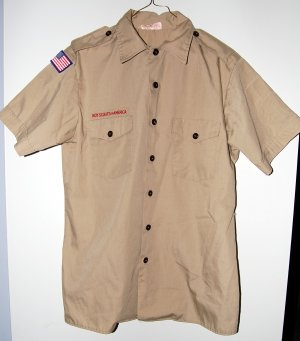Official Boy Scout Uniform Shirt Adult Medium Used