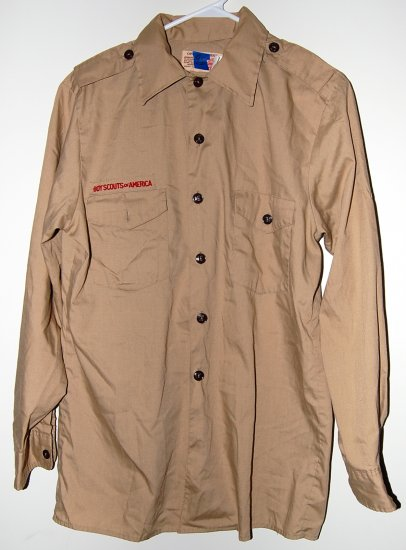 Official Boy Scout Uniform Shirt Adult Long Sleeve Medium Used (No Flag)