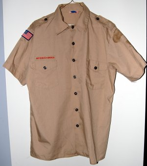 Official Boy Scout Uniform Shirt Adult Large Used